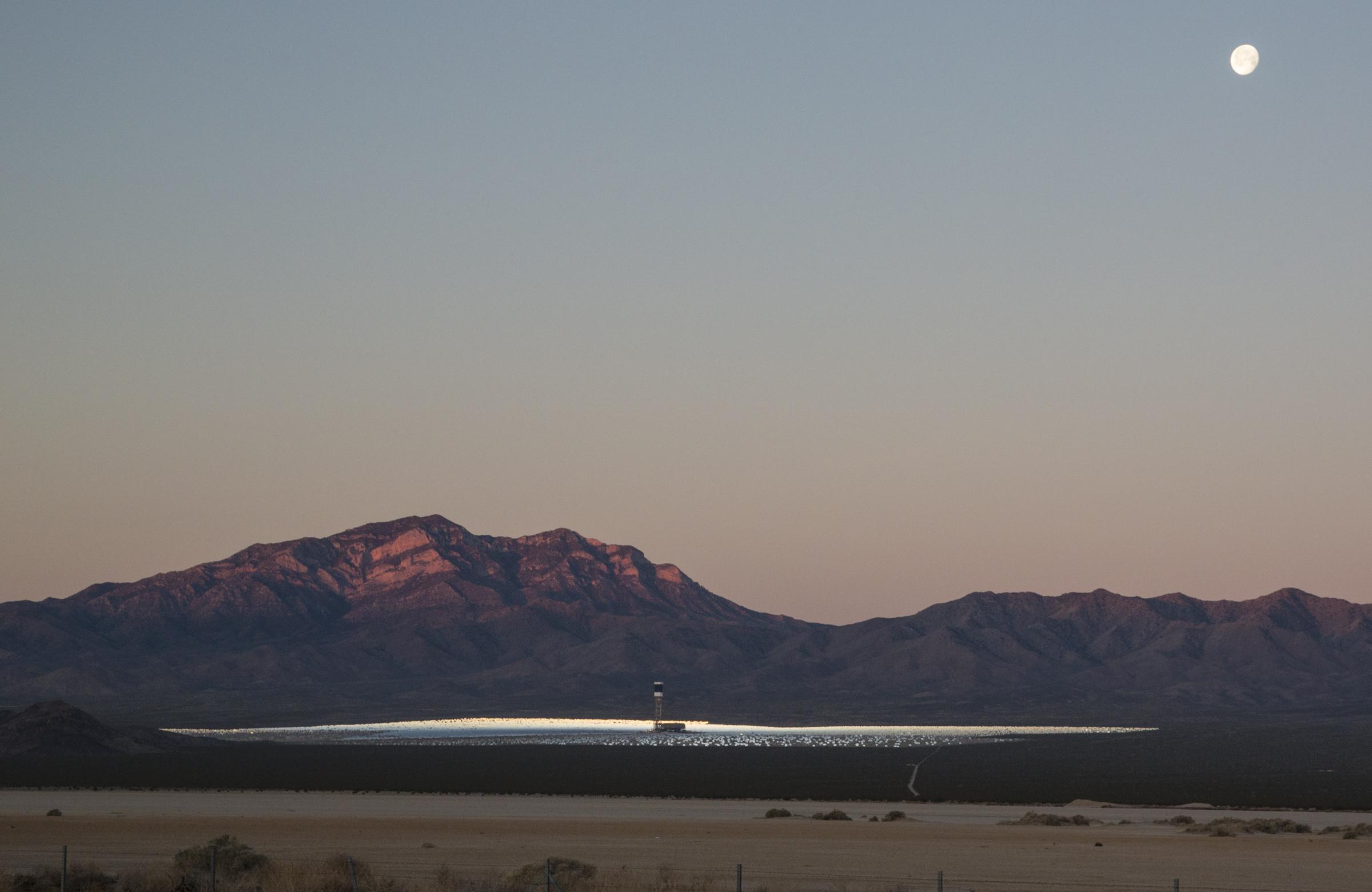 Ivanpah solar facility in Nevada. Photo by Bob Wick, BLM