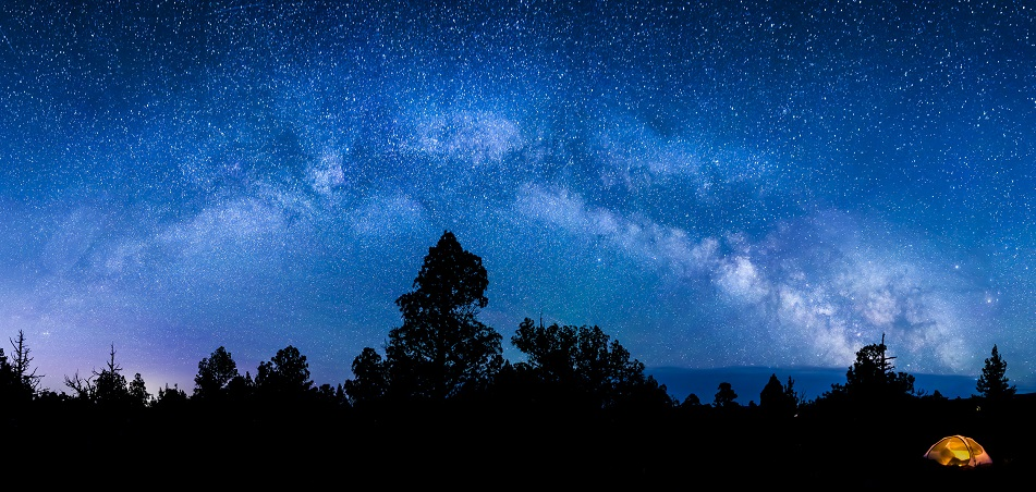 The milkyway over the Oregon Badlands. Photo by Bob Wick, BLM.