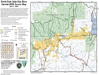 2002 North Fork John Day River Interim BLM Access Map