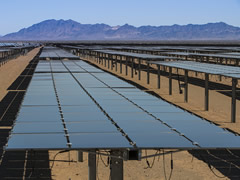 Solar Panels in the Desert.  Photo courtesy of Tom Brewster Photography.