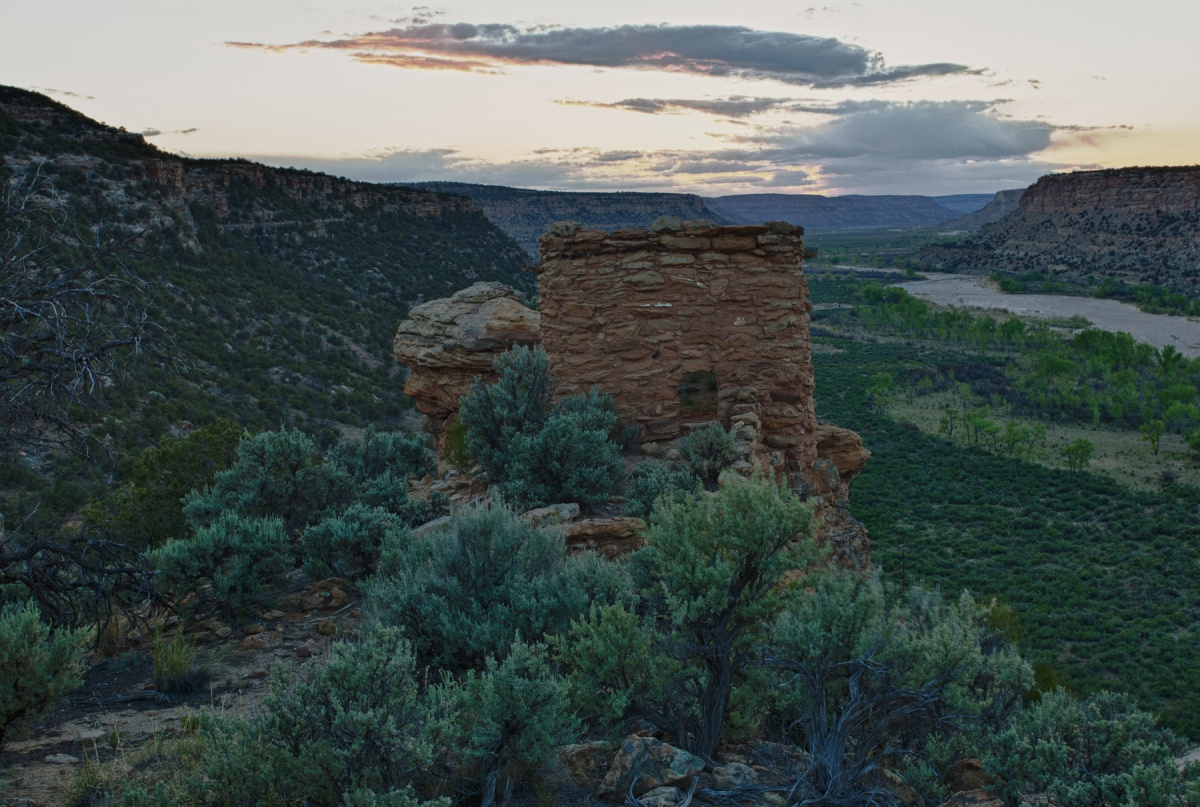 Sunset over the Pueblos at Dinetah in New Mexico. Photo by Bob Wick, BLM.