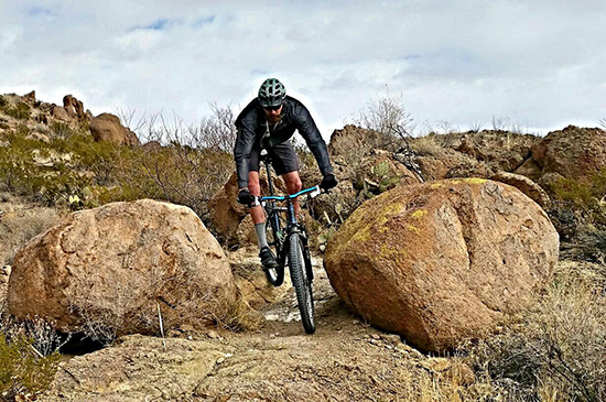 Mountain biking in the Doña Ana Mountains in southern New Mexico