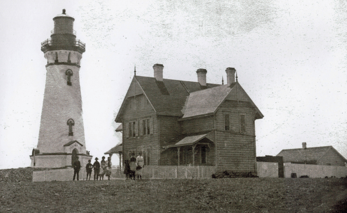 Image of the light station in 1885.