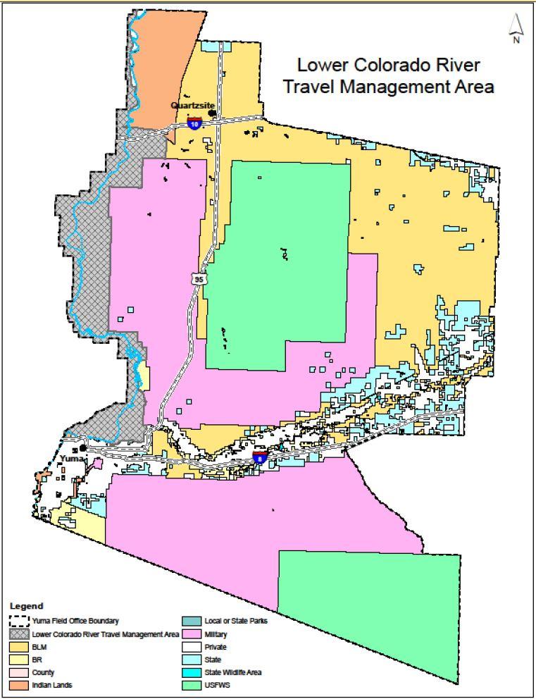 Map Of Yuma Arizona And Surrounding Area.Public Invited To Participate In Development Of Lower Colorado River