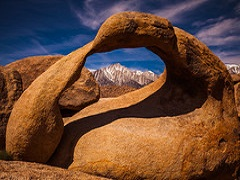 A natural granite arch frame Mt. Whitney. Photo by Jesse Pluim/BLM.