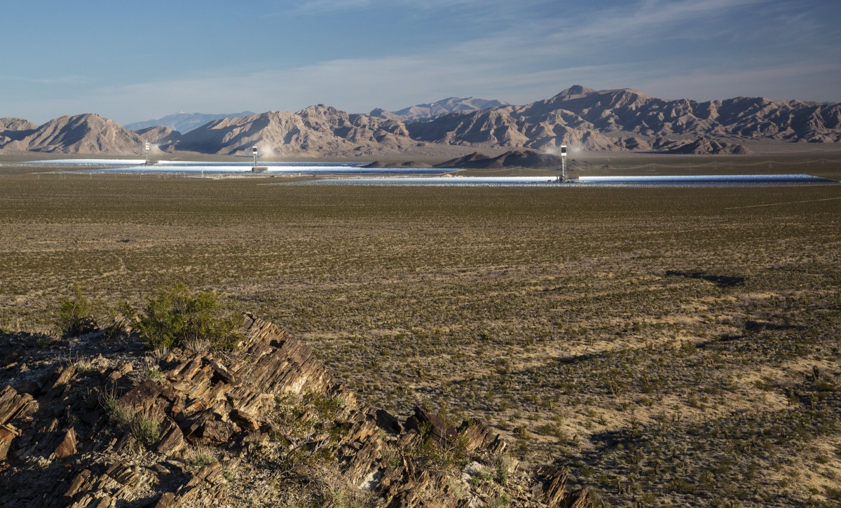 Ivanpah solar facility in Nevada. Photo by Bob Wick, BLM.