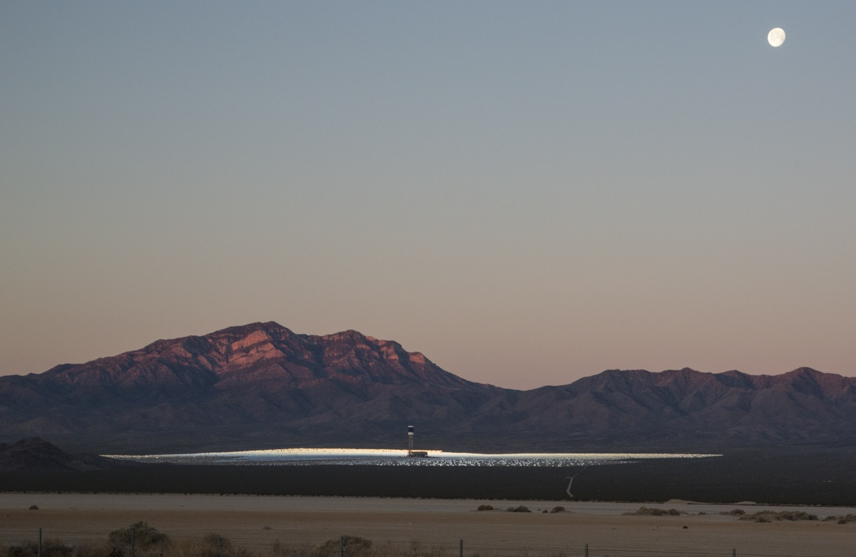 Ivanpah solar facility in Nevada. Photo by Bob Wick, BLM