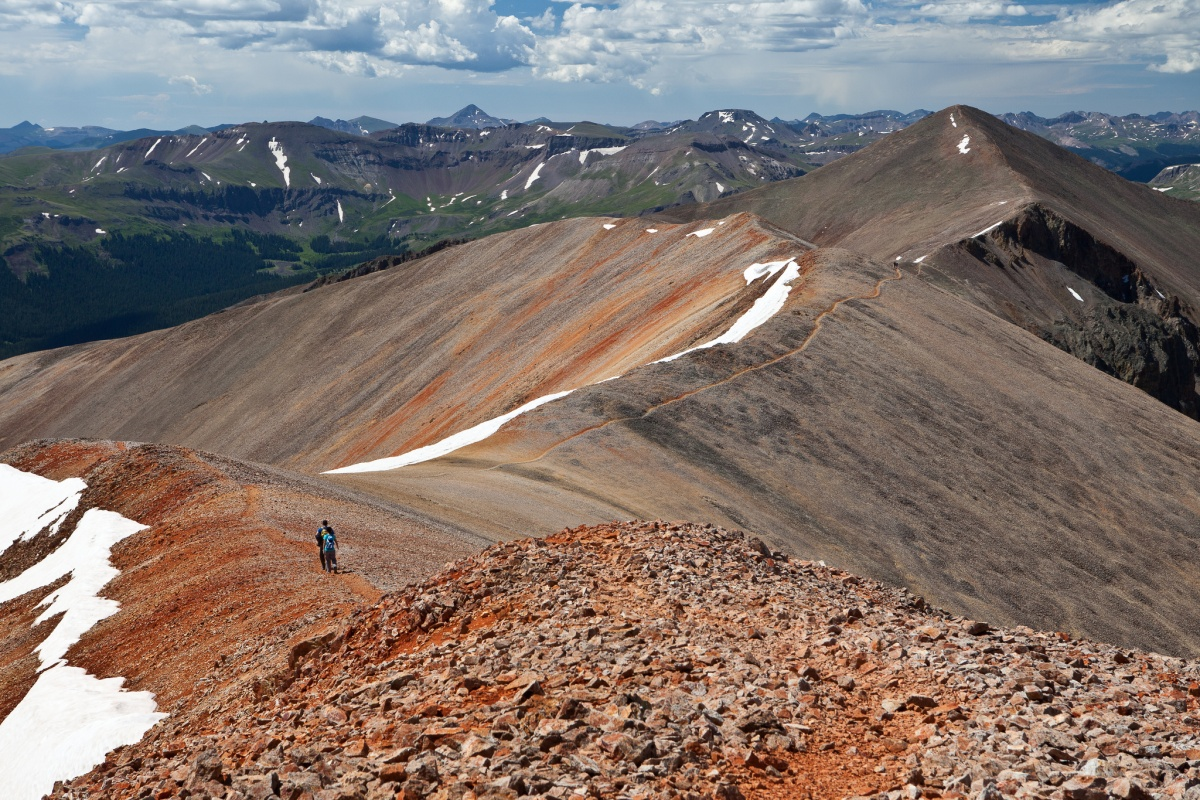 Landscape view of Red Cloud Peak, Colorado, photo by Bob Wick, BLM