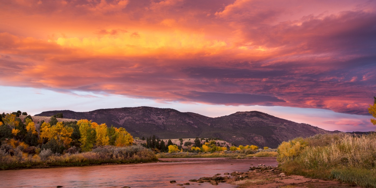 Sunset view of Jarvie Green River in Utah. Photo by Bob Wick, BLM