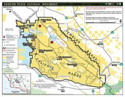 Visitor map of Carrizo Plain National Monument