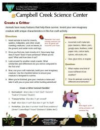 Create a Critter Nature Learning Activity sheet