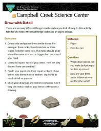 Draw with Detail Nature Learning Activity sheet