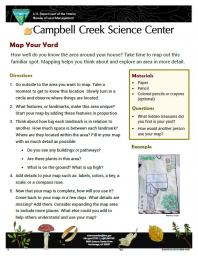 Map Your Yard Nature Learning Activity sheet