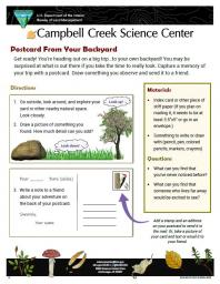 Postcard from Your Yard Nature Learning Activity sheet