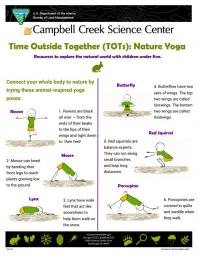 TOTs Nature Yoga activity sheet