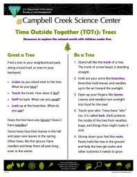 TOTs Tree Activity sheet
