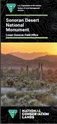 a brochure with the text Sonoran Desert National Monument
