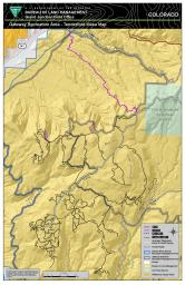 Thumbnail image of the Gateway Extensive Recreation Management Area – Tenderfoot Mesa Map