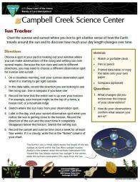 Tack the Sun Nature Learning Activity sheet