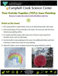 TOTs Snow Painting Activity sheet