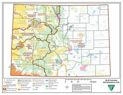 map of colorado with district boundary