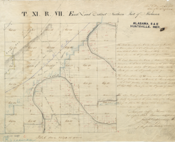 Turkeytown Original Survey Plat