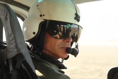 Wild horse and burro specialist Bruce Thompson conducts aerial survey