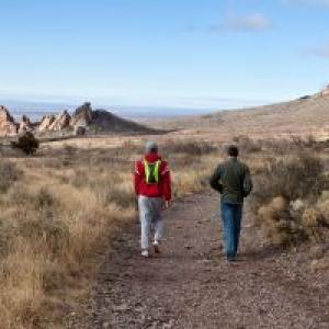Hikers at Organ Mountains-Desert Peaks National Monument