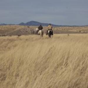 Horseback riders explore Las Cienegas NCA