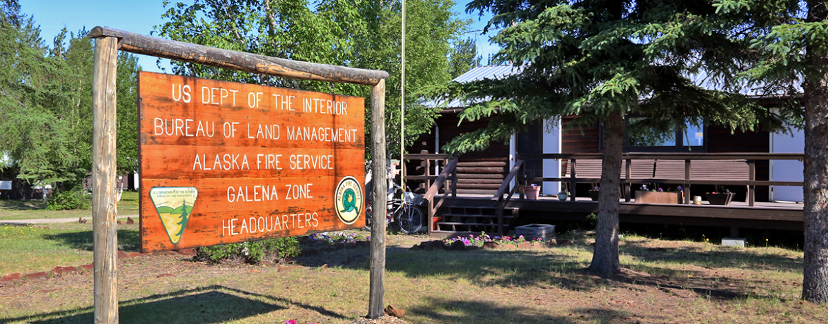 Galena Alaska Fire Service office sign