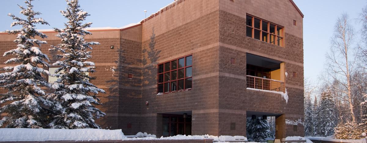 BLM Fairbanks District Office Building in winter
