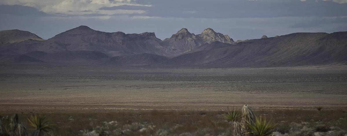 Landscape of Sloan Canyon National Conservation Area. Photo by Bob Wick/BLM