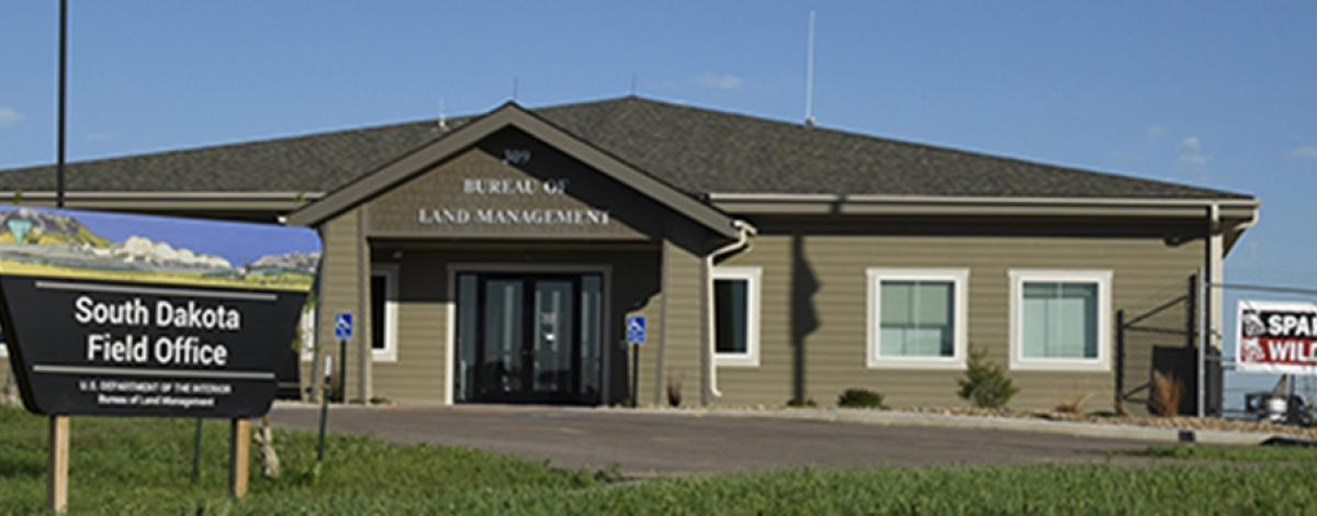 South Dakota Field Office building and sign