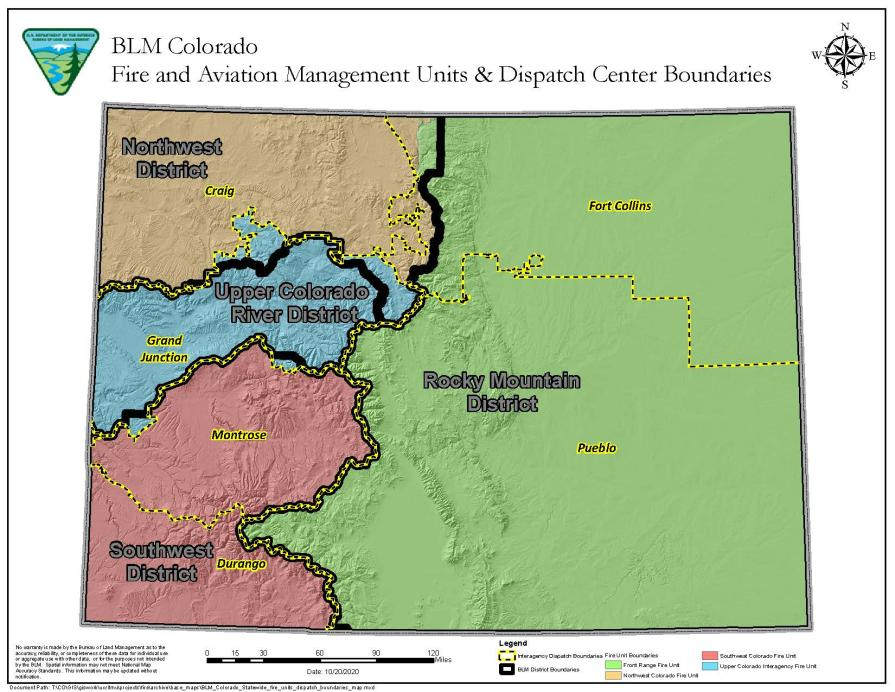 map of colorado with fire unit boundaries