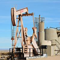 A photo of an oil well in the Vernal Field Office area.
