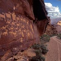 Rock art at Utah's Nine Mile Canyon.