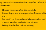 Infographic showing the four steps for campfire safety