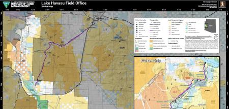 a map reads Lake Havasu Field Office Visitor Map