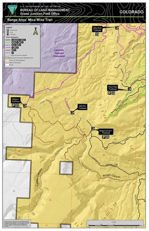 Thumbnail image of the Mica Mine area of the Bangs Special Recreation Management Area Mica Mine Area Map
