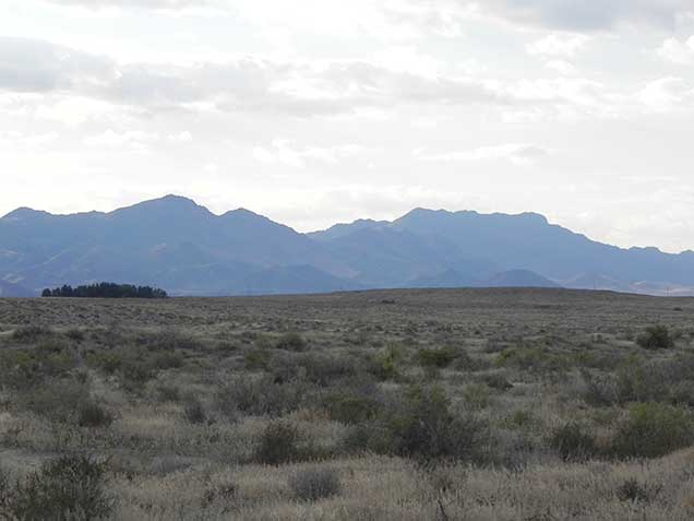 A mountain in the distance.  Photo by Amy Dumas/BLM