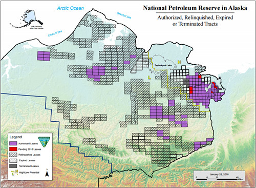 Map of the Current Lease in the National Petroleum Reserve in Alaska