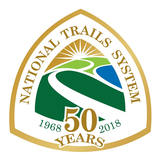 The National Scenic and Historic Trails 50th Anniversary Logo
