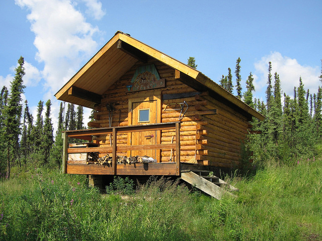 Borealis-LeFevre Cabin in the White Mountains National Recreation Area during the summer