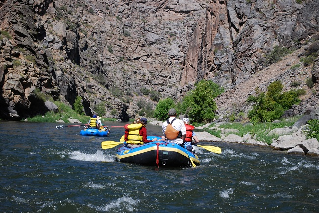 Photo of rafters on the Gunnison River in the Gunnison Gorge Wilderness. Photo by Beth Malone.