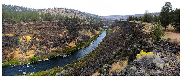 The long narrow canyon that surrounds the Deschutes River in the Steelhead Falls area pulls visitors away from nearby human influences and places them in a spectacular steep-sloped channel of unique character. Noise from human infrastructure is masked by the roar of the river at the falls, and hikers become entranced by the colors of the stream-side vegetation and the textured reds and browns of the cliff walls.