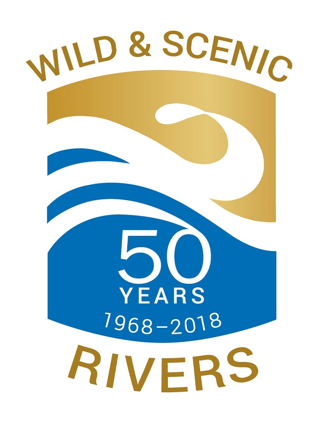 The Wild and Scenic Rivers Act 50th Anniversary Logo