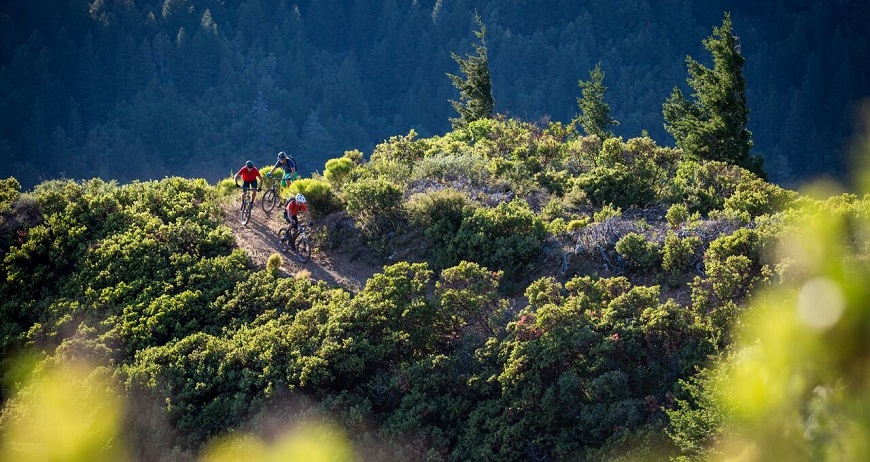 Mountain bikers ride the King Range trails in California. Photo by Leslie Kemmer, IMBA.